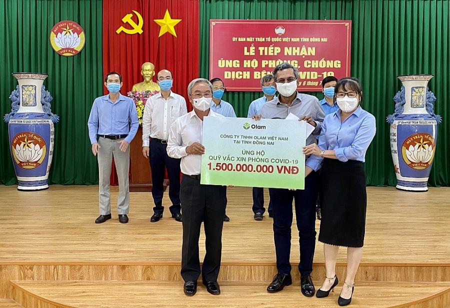 Olam Việt Nam tài trợ hơn 5 tỷ đồng cho Quỹ vắc xin Covid-19 - ảnh 1