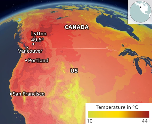 """Giải mã hiện tượng """"""""vòm nhiệt"""""""" trong những ngày nắng nóng chết chóc đang xảy ra ở Tây Bắc Mỹ"""