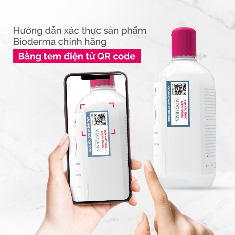 Xác thực sản phẩm Bioderma chính hãngvới tem xác thực điện tử QR code