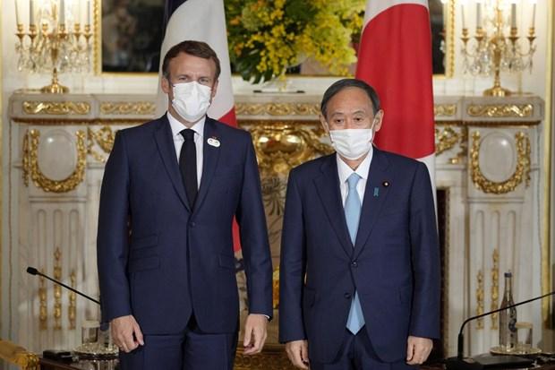 Lãnh đạo Nhật Bản và Pháp trao đổi về hợp tác song phương - ảnh 1