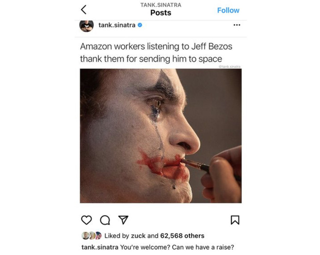 "Thấy meme chế nhạo Jeff Bezos trên Instagram, Mark Zuckerberg âm thầm ""thả tim"" - ảnh 1"