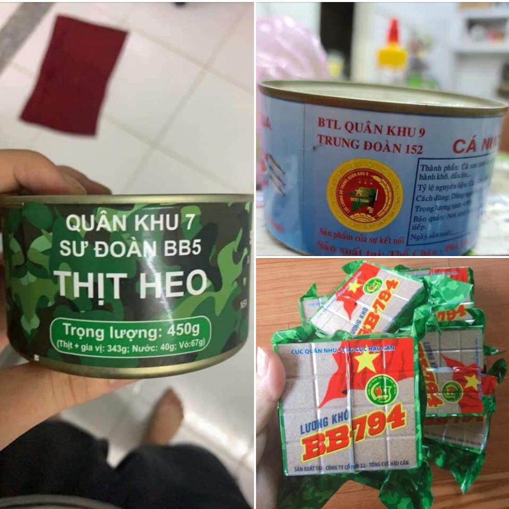 Cận cảnh lon thịt hộp Quân Khu 7 và những món ăn có trong balo của bộ đội Việt Nam, người từng thưởng đã có review luôn rồi đây!