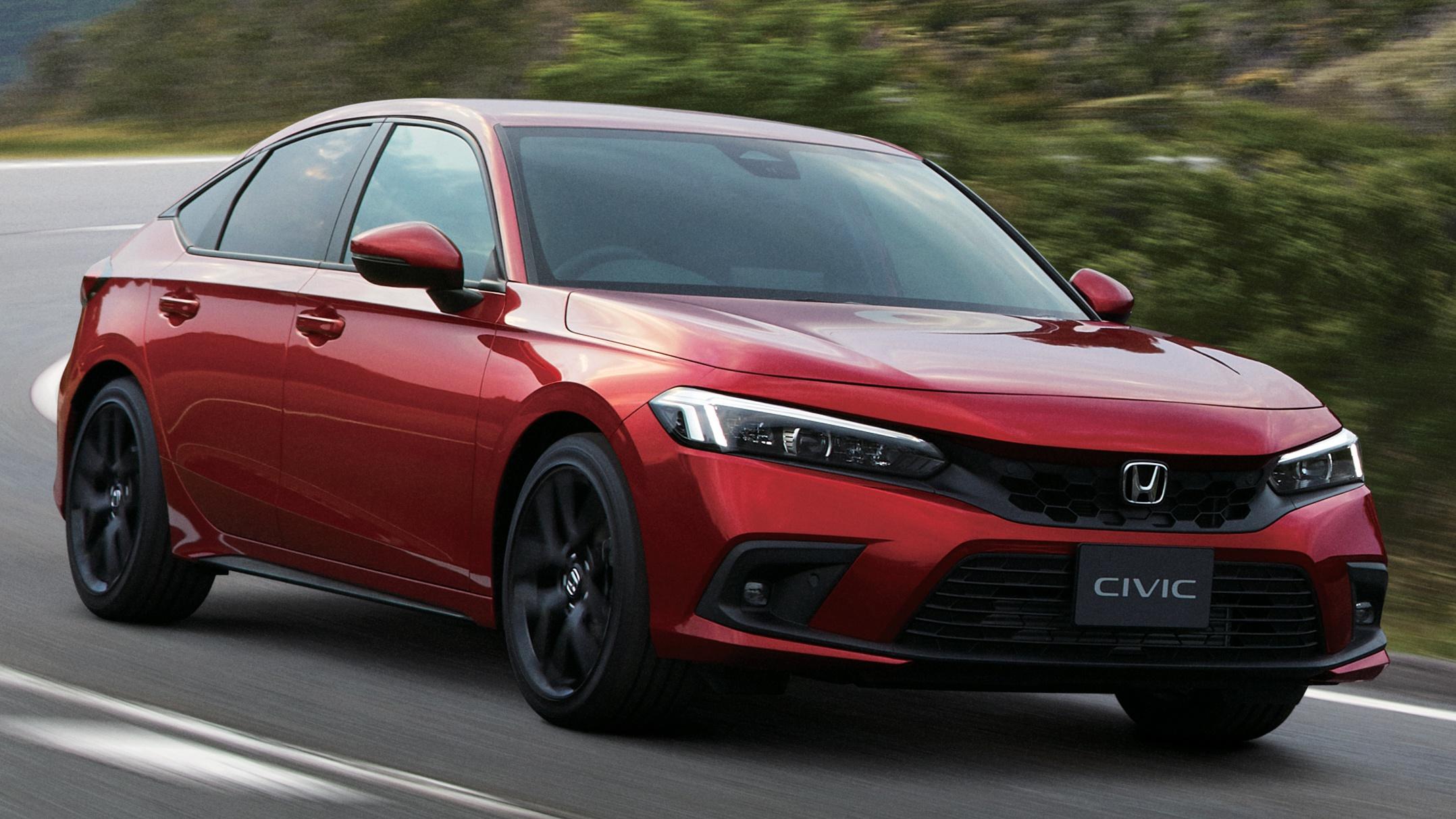 Honda Civic 2022 bản 5 cửa tại Nhật Bản có 8 túi khí, tự hành cấp độ 2