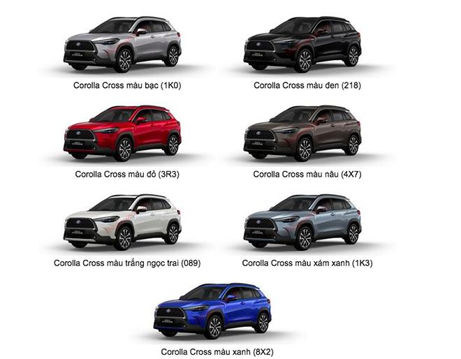 Giá xe Toyota Corolla Cross lăn bánh tháng 8/2021