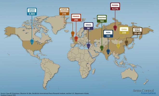 Bức tranh tổng quan về vũ khí hạt nhân trên thế giới