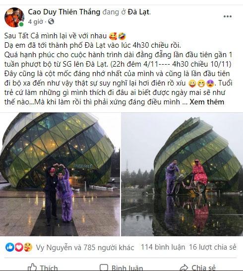 """Chàng trai 9X và hành trình đi bộ từ TP.HCM đến Đà Lạt gây """"bão mạng"""""""