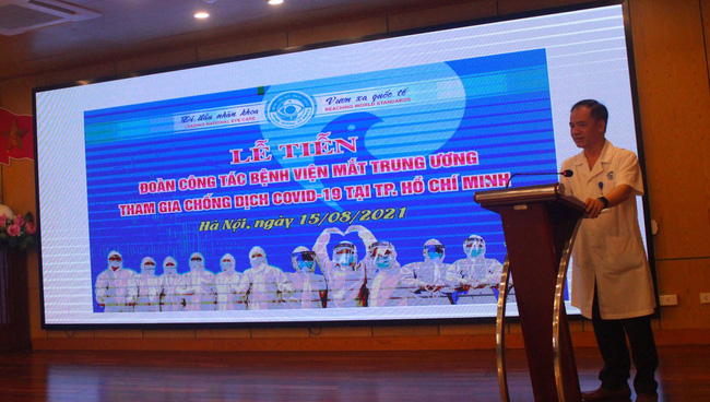 51 cán bộ Bệnh viện Mắt TƯ chi viện tâm dịch Tp. Hồ Chí Minh