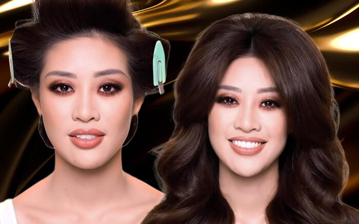 Tự hào khi Khánh Vân là người đẹp Việt đầu tiên được chuyên gia trang điểm Hollywood phù phép