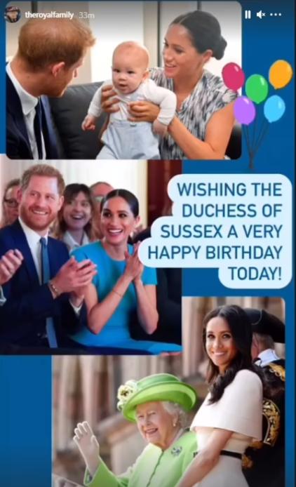Nữ hoàng Anh cùng gia đình đồng loạt có hành động bất ngờ ngay ngày sinh nhật Meghan