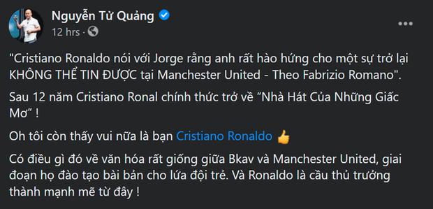 Nói BKAV và Man Utd giống nhau về văn hoá, CEO BKAV Nguyễn Tử Quảng bị cộng đồng mạng phản pháo