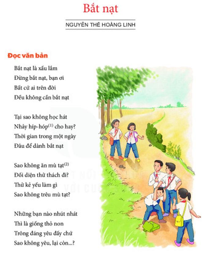 """Tranh luận về bài thơ """"Bắt nạt"""" trong sách Ngữ văn lớp 6 mới"""