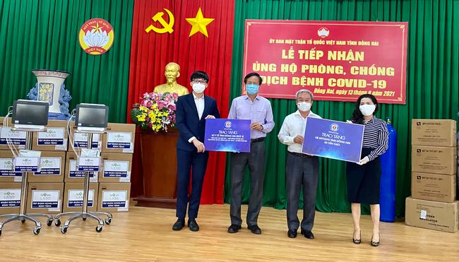 Quỹ từ thiện Kim Oanh đã hỗ trợ các tỉnh phía Nam 75 máy thở và hàng nghìn thiết bị y tế chống dịch