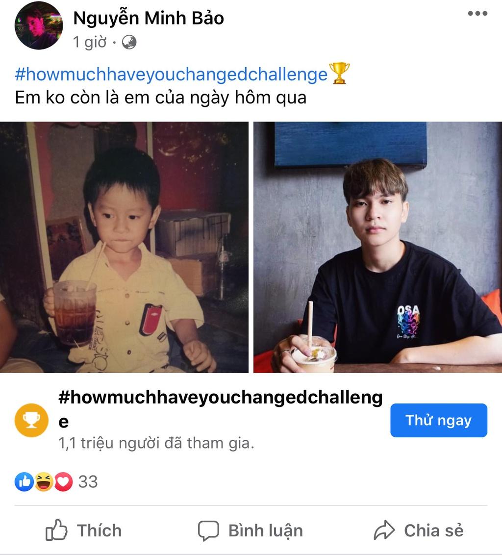"""Trào lưu """"howmuchhaveyouchangedchallenge"""" thu hút giới trẻ"""