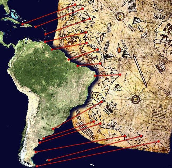 Bí ẩn đáng kinh ngạc bên trong tấm bản đồ cổ đại