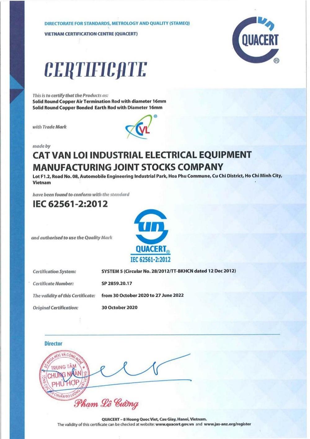 Hố kiểm tra tiếp địa bê tông Cát Vạn Lợi đạt tiêu chuẩn quốc tế IEC 62561
