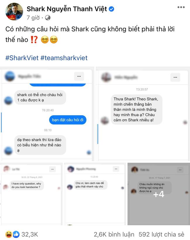 """Shark Việt lần đầu tiết lộ những câu hỏi nghe rồi là bó tay nhận được từ dân mạng, tò mò nhất câu """"mẹ và người yêu té xuống sông thì cứu ai trước"""""""