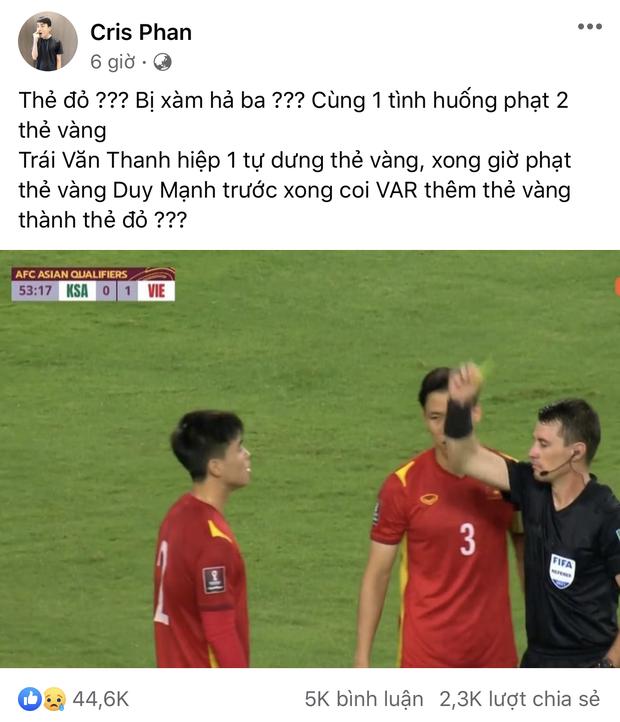 """Cris Phan lên tiếng xin lỗi về phát ngôn vô duyên sau trận Việt Nam – Saudi Arabia, """"Cris biết mình sai ở đâu rồi"""""""