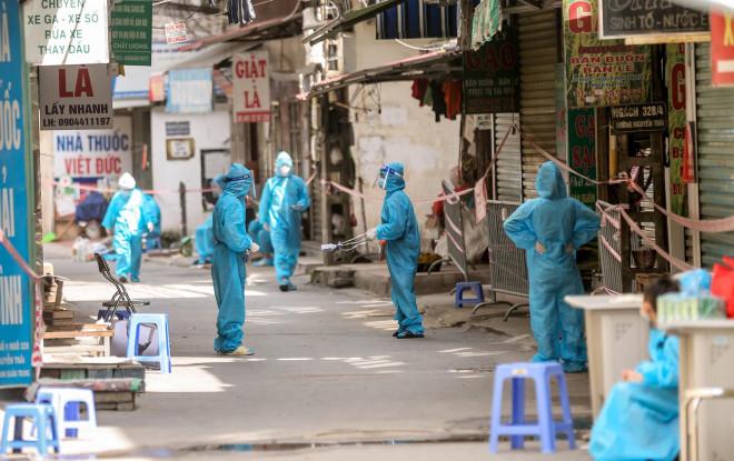7 ổ dịch phức tạp với 566 ca mắc Covid-19 ở Hà Nội