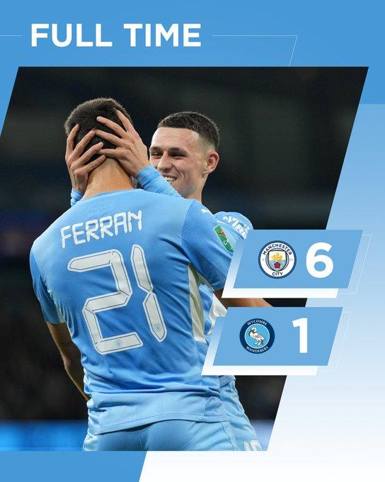 Cúp Liên đoàn Anh: Man City tạo mưa bàn thắng, Minamino lập cú đúp cho Liverpool - ảnh 1