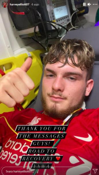 Sao trẻ Liverpool lập tức lên mạng trấn an CĐV sau chấn thương rùng rợn