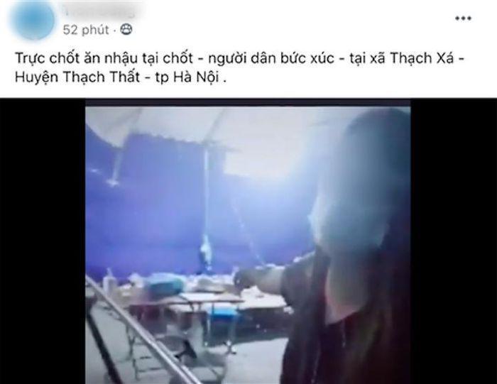 Làm rõ thông tin cả chục người tụ tập ăn nhậu tại chốt kiểm soát dịch ở Hà Nội