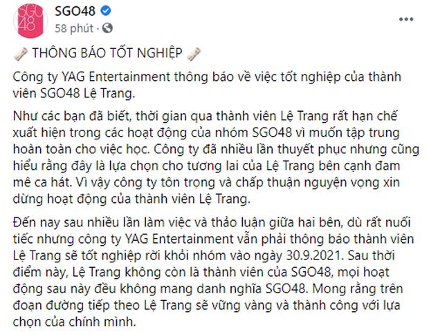 Thành viên girlgroup đông dân nhất Việt Nam, từng dính nghi vấn viết confession đòi kiện công ty, chính thức rời nhóm!