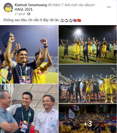 HLV Kiatisuk đáp lời bầu Đức, nói điều xúc động khi HAGL không thể vô địch V.League 2021