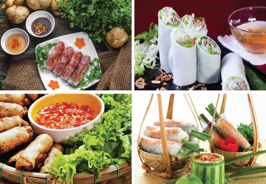 Việt Nam là đất nước có nhiều món cuốn đặc sắc nhất thế giới
