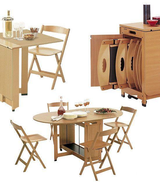 """Mẫu bàn ăn thông minh siêu gọn cho căn hộ nhỏ nhìn muốn """"chạy ngay đi mua"""""""