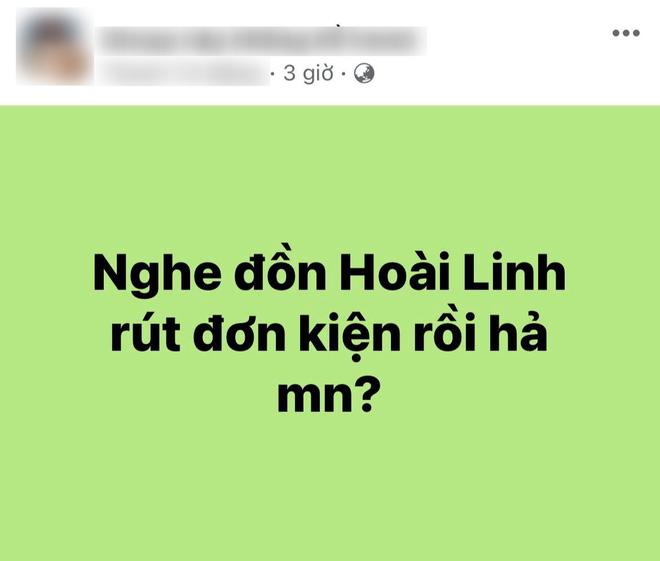 MXH rầm rộ tin NS Hoài Linh đã rút đơn kiện nữ CEO Đại Nam, chuyện gì đây? - ảnh 1