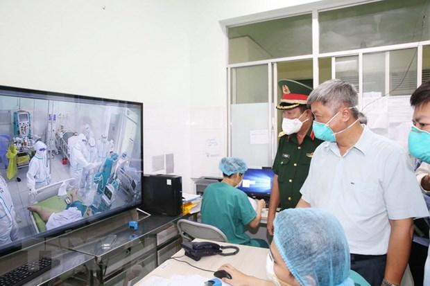 Tổ công tác của Chính phủ kiểm tra phòng, chống dịch ở Tiền Giang