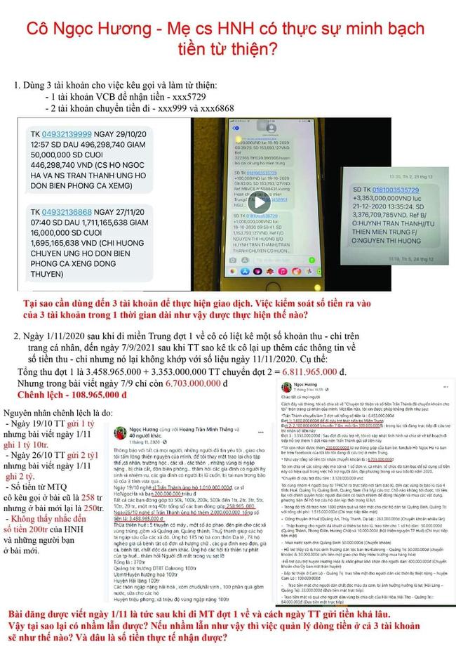 Xuất hiện loạt chi tiết nghi vấn trong sao kê từ thiện của mẹ Hồ Ngọc Hà: Dùng 3 số tài khoản luân chuyển tiền, giải ngân chậm 8 tháng?