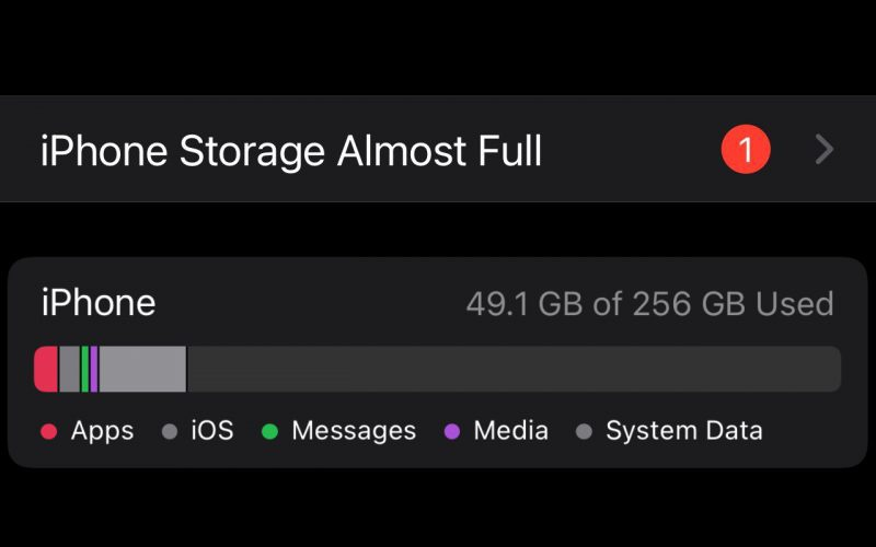 Phát sinh lỗi đầy bộ nhớ khi nâng cấp iOS 15