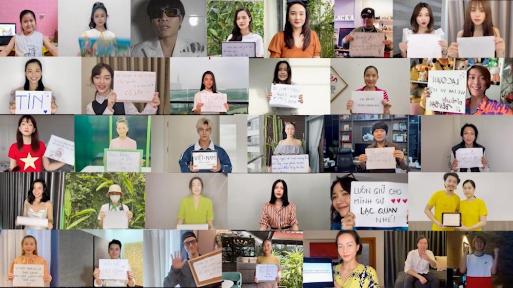 Loạt sao Việt gửi thông điệp ý nghĩa mùa dịch trong MV của Châu Đăng Khoa