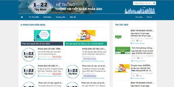 1022 Tây Ninh – kênh thông tin hữu ích giữa dịch Covid-19