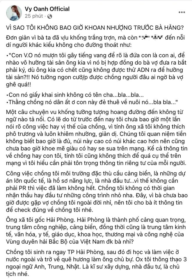 """Đúng như đã hẹn, Vy Oanh lên tiếng đáp trả bà Phương Hằng, lần đầu hé lộ profile khủng của ông xã, hoá ra là """"cái đồ có nổi 1000 tỷ"""""""