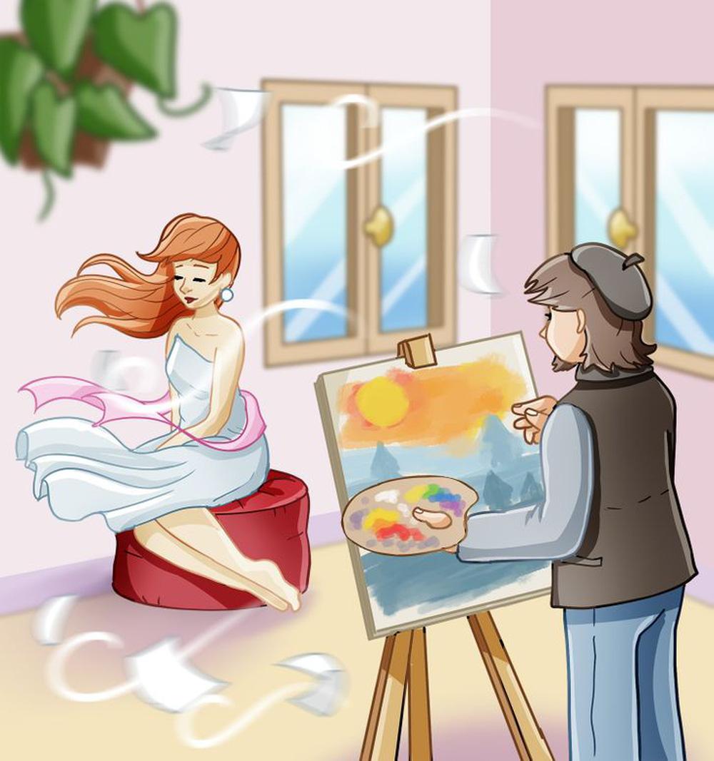 """Tìm được 3 điểm """"lạ"""" trong bức tranh cô gái ngồi làm mẫu, bạn hẳn là rất tinh mắt!"""