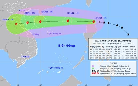 Bão Kompasu sẽ đi vào Biển Đông và tiếp tục mạnh thêm - ảnh 1