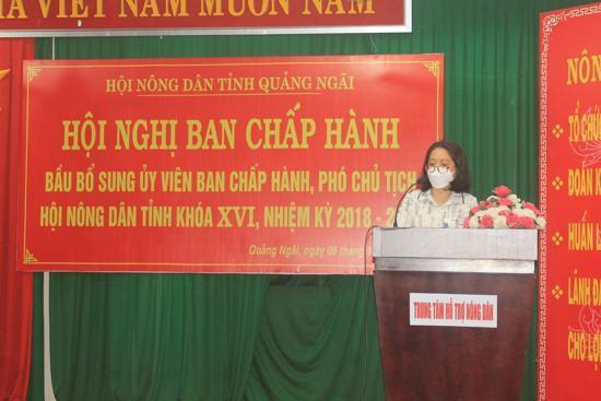 Hội nghị bất thường BCH Hội ND tỉnh Quảng Ngãi bầu được người giữ chức danh Phó Chủ tịch Hội Nông dân tỉnh - ảnh 1