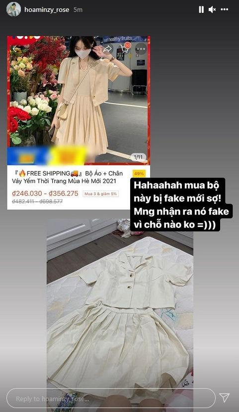 Cũng đến ngày, Hòa Minzy nhận kết đắng khi mua hàng online