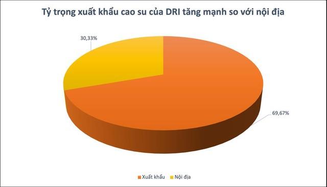 Cao su DRI báo lãi gộp tăng 2,5 lần trong 9 tháng đầu năm 2021