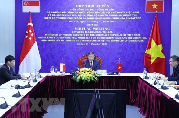 Việt Nam-Singapore đẩy mạnh hợp tác trong lĩnh vực an ninh mạng - ảnh 1