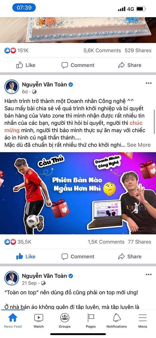 """Cầu thủ Văn Toàn và cộng đồng mạng đua nhau khoe nghề """"Doanh nhân công nghệ"""" - ảnh 1"""