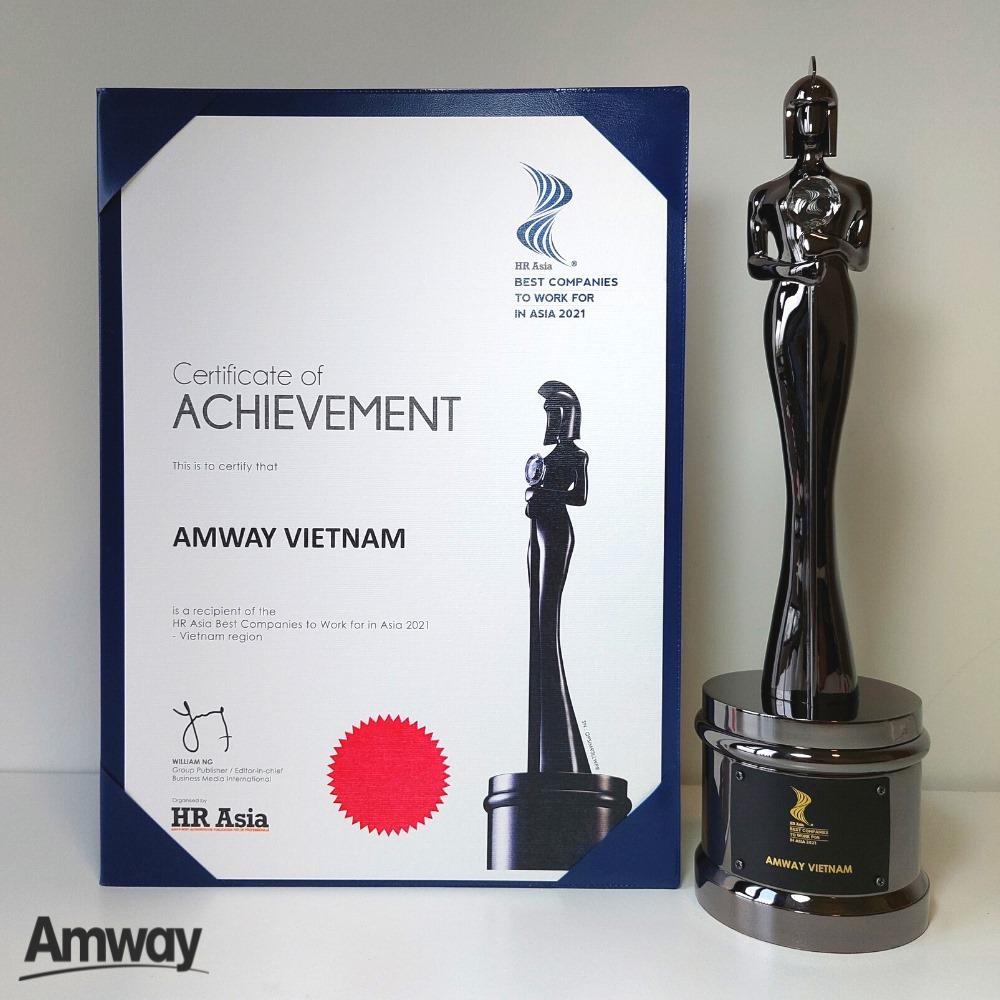Amway Việt Nam được vinh danh là một trong những nơi làm việc tốt nhất châu Á năm 2021 - ảnh 1