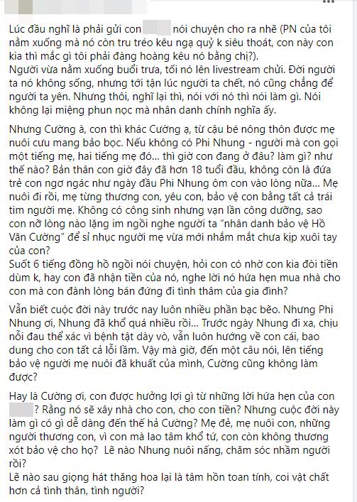 Vy Oanh chỉ trích một nữ đại gia là ác nhân vì khơi lại lùm xùm tiền bạc của Phi Nhung - Hồ Văn Cường - ảnh 1