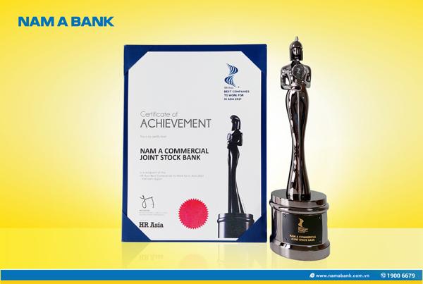 Nam A Bank nhận giải 'Nơi làm việc tốt nhất châu Á 2021' - ảnh 1
