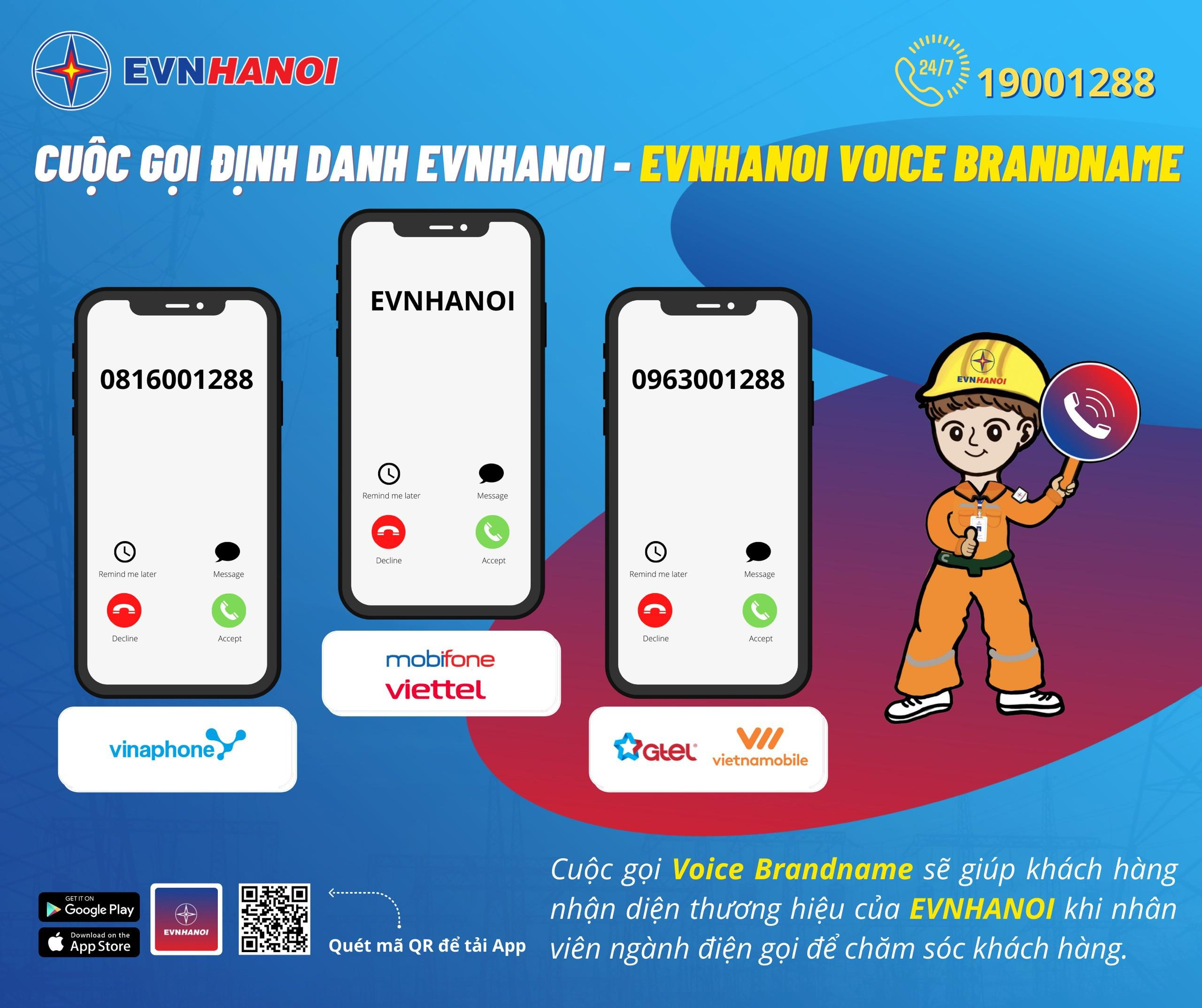 EVNHANOI: Triển khai hệ thống định danh cuộc gọi (Voice Brandname) để liên lạc với khách hàng - ảnh 1