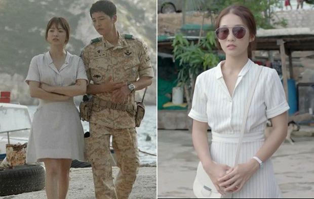So kè váy áo của mỹ nhân Việt – Hàn đóng cùng vai diễn: Khả Ngân y hệt Song Hye Kyo, Phương Oanh kém xa bản gốc!