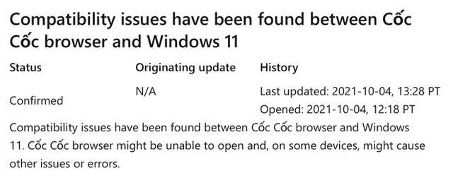 Ứng dụng Việt Cốc Cốc vẫn hoạt động ổn định trên Windows 11 sau khuyến cáo của Microsoft - ảnh 1