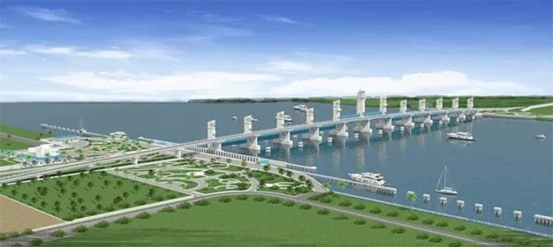 Hệ thống thuỷ lợi lớn nhất Đồng bằng sông Cửu Long sẽ vận hành cuối năm 2021